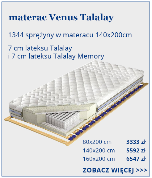 materac do spania dla par Venus MultiPocket Talalay